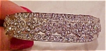 Art deco hinged bangle with rhinestones
