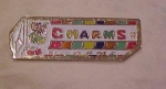 Click here to enlarge image and see more about item b6056: Charms candy advertising pin