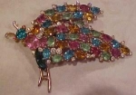 Corocraft Bug pin w/ multi color rhinestones