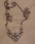 Rhinestone necklace & earring set