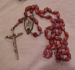 Rosary with celluloid beads