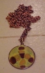 1960's copper and enamel pendant