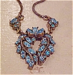Hollycraft Necklace with rhinestones