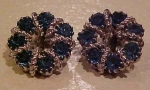 Weiss green rhinestone earrings