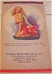 Click here to enlarge image and see more about item b6488: Earl Moran pinup notepad 1949