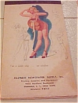 Click here to enlarge image and see more about item b6489: Elliott pinup notepad 1950