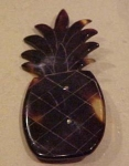 Tortoise shell pineapple pin