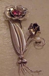 Migley Sterling Retro Flower pin