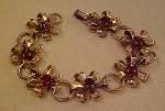 1940's retro bracelet w/red rhinestones