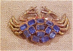 Crab brooch with rhinestones