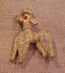 Poodle pin with rhinestones