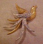 Bird pin with rhinestones