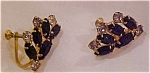 Black and clear rhinestone earrings