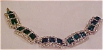 Click here to enlarge image and see more about item b7331: Green and Clear rhinestone bracelet