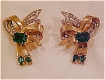 Mazer sterling vermeil 1940's earrings
