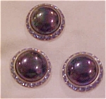 3 faux pearl and rhinestone buttons