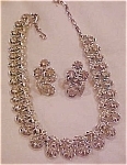 Coro rhinestone necklace & earrings