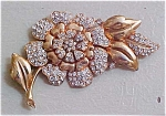 Flower rhinestone pin