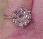 Sterling ring with cubic zirconia
