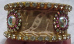 Bangle with Rhinestones and ribbon large