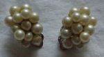 Ciner faux pearl cluster earrings