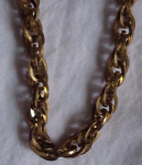 Brass link necklace