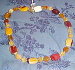 agate and quartz bead necklace