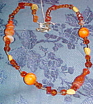 crystal and agate bead necklace