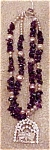 Double strand amethyst pearl necklace