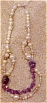 Vintage faux pearl/amethyst necklace