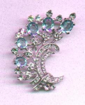 Trifari rhinestone floral design pin