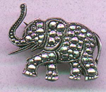 Elephant pin with faux marcasites