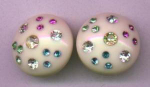 thermo plastic earrings with rhinestones