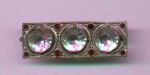 Czechoslovakian art deco style bar pin with rhinestones