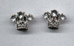 crown design rhinestone earrings