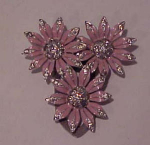 enamel and rhinestone flower dress clip