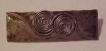 Modern silver pin w/wirework