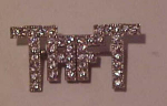 Click here to enlarge image and see more about item f3161: TAFT presidential political rhinestone pin