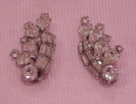 Large Weiss rhinestone earrings