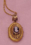 Victorian locket with cameo