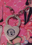 Bettie Page heart shaped locket necklace