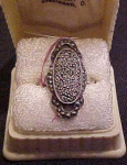 Sterling and marcasite ring