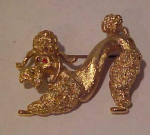 Monet curly poodle dog pin