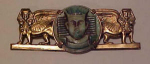 Click here to enlarge image and see more about item f4109: Czechoslovakian Egyptian Revival pin