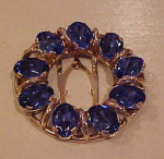 Blue rhinestone dress clip large