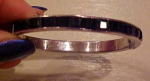 Art Deco bangle with black rhinestones