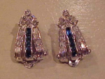 Pennino retro rhinestone earrings