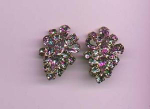Lavender rhinestone earrings
