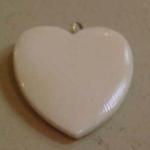 Ivory heart charm pendant