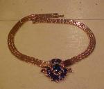 Trifari Sapphire & Rhinestone Retro necklace